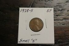 1928-S Lincoln Cent (EF)