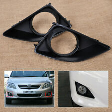 Fit 2007-2010 Toyota Corolla New Pair Front Fog Light Lamp Grille Cover Bezel