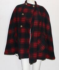 Country Place vintage wool plaid poncho type cape distress