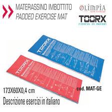 TOORX Tappettino MATERASSINO IMBOTTITO PIEGHEVOLE 181x60cm con DISEGNI ESERCIZI
