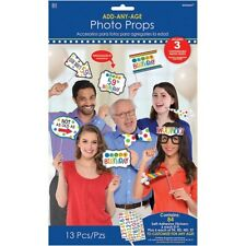 Add-Any-Age Birthday Photo Props Party Decoration Kit