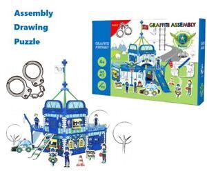Childrens Kids Doodle Build Colour Design Cardboard Play Houses DIY Xmas Gift
