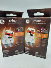 4 Bulbs GE Lighting LED Relax HD 4-watt (40-watt Replacement), 300-Lumen