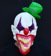 Creepy Evil Scary Halloween Clown Mask Rubber Latex MAD HATTER CLOWN
