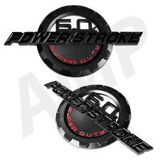 2pc 6.0L PowerStroke Emblem Super Duty 3D Badge Power Stroke for Ford F250 F350