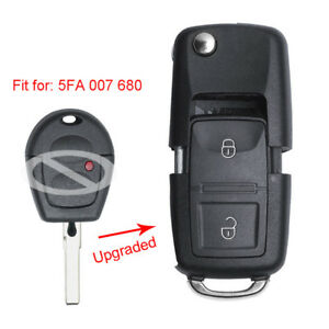 Upgraded Flip Remote Key 433MHz ID48 for Volkswagen Bora Polo Golf Passat Lupo
