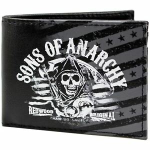 Official Fox Sons Of Anarchy Redwood Black Id & Card Wallet *SECOND*