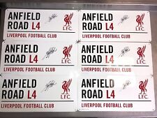 ANFIELD ROAD SIGN, PERSONALLY SIGNED BY KEVIN KEEGAN, LIVERPOOL ICON, PROOF COA