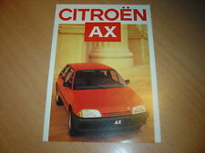 DEPLIANT Citroën AX de 1986