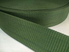 25 feet 2 1/4 military type web belt heavy nylon webbing Green