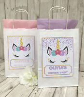 PERSONALISED UNICORN CHILDRENS BIRTHDAY PARTY GIFT BAG | LOOT BAG | THANK YOU