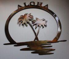 Palm Tree Aloha Metal Wall Art Decor by HGMW Large Size