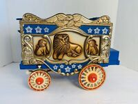 Vintage Jim Beam 1979 Circus Wagon Lions Whiskey Decanter Bottle-collectible