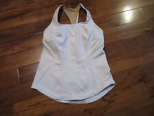 LULULEMON CARDIO KICK racerback TANK IN WHITE SIZE 8 WITH CUPS