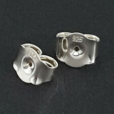 Butterfly Backs Stoppers Ex Large 7.5mm Sterling Silver For Post Stud Earrings
