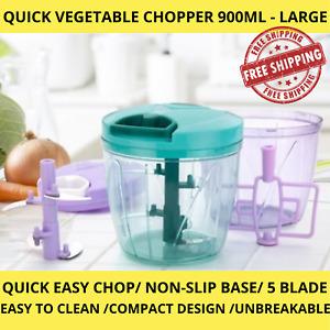 Pulling Vegetable Food Chopper Slicer Processor Hand Blender Kitchen Tool LARGE