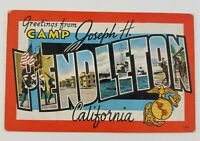 Postcard Linen Greetings From Camp Pendleton California