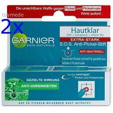 2x GARNIER Naturals Hautklar SOS Anti-Pickel-Stift, extra stark, Anti-bakteriell