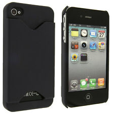 Navy Blue Back Cover Case with Credit Card Holder for iPhone 4 / 4S