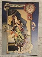 Postcard ~ 14x10cm Vintage Halloween Shadow reprint Clock