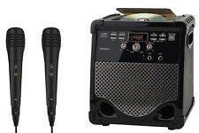 Goodmans XB16CDGBT Karaoke Machine includes 2 Microphones