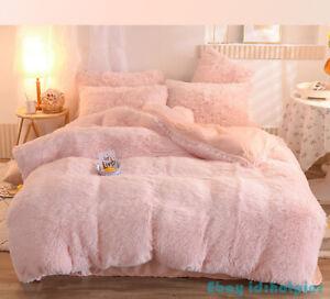 Luxury Soft Plush Shaggy Crystal Velvet Lai Velvet Bedding Set Duvet Cover 4pcs