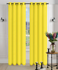 2Pcs. SEMI-Sheer Window Panel curtains SOLID GROMMET PLAIN STYLE DRAPES MIRA