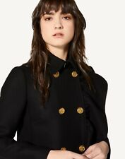 RED VALENTINO RUFFLE DETAIL WOOL/CASHMERE COAT...SZ 40...NWT