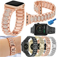 Stainless Steel Metal iWatch Strap For Apple Watch Band 42mm 38mm Series 4 3 2 1