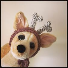 The Reindeer Deer Christmas hat, for your dog. Small Chihuahua, Yorkie. Costume
