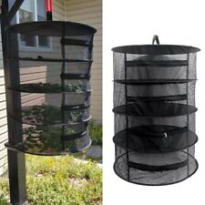 4 Tier Zipper Hanging Dry Rack Grow Net Dryer Hydroponics Herb Drying Mesh UK