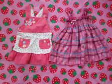 Bundle Of 2 Dresses For Girl Approx  Size 12-24 Months Pit To Pit 10""