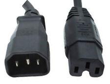 1,8 m C14 Macho A IEC C15 Mujer Adaptador De Corriente hervidor Masterplug UPS PDU Psu