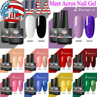 2Colors MEET ACROSS 8ml UV Gel Nail Polish Soak Off Glitter Sequins