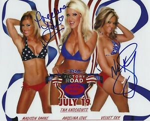 Angelina Love - Velvet Sky Autographed Signed 8x10 Photo - w/COA TNA WWE Divas