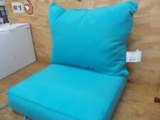 Outdoor 24-Inch 2-Piece Deep Seat Chair Cushion in Sunbrella® Canvas Cyan