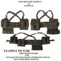 Genuine Vintage ChiCom Type 63 SKS 7.62X39 Chest Rig - Green - New Old Stock
