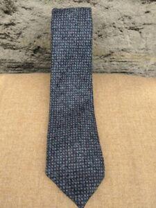 Scottish 100% Wool Woven Tweed Tie - Purple Birdseye
