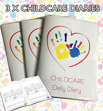 3 X CHILDMINDER DIARIES/CHILDCARE DAILY DIARY/CHILD CARE EYFS, CHOOSE YOUR COVER
