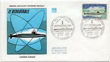 Enveloppe FDC 1er Jour - Le REDOUTABLE à Propulsion Nucléaire - Cherbourg 1969