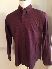 Polo Ralph Lauren Custom Fit Men's L/S Button Front Shirt XL Darker Red Plaid