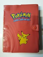 Old Pokemon binder used red Pikachu TCG