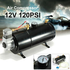 12V 120 PSI Air Compressor w/ 0.7 Gallon Tank Pump For Air Horn Boat Bus Truck