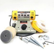 220v 350w Polishing Machine For Diy Woodworking Jadejewelry Dental Bench Lathe