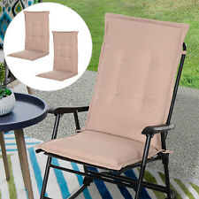 Outsunny Single Seat Replacement High Back Chair Folding Garden Seat Pad - Beige