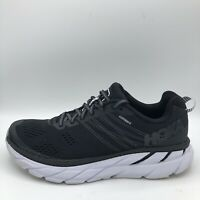 Hoka One One Clifton 6 Black White Athletic Running Shoes Womens Size 9.5