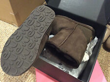 NEW in Box Women's EMU Australia Wool Lined Suede Stinger Lo Boots Chocolate 7