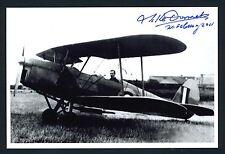 Michel Donnet DECEASED WWII RAF Belgium Pilot 4V Signed 4x6 Photo E16738