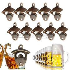 10X Rustic Cast Iron Beer Wine Bottle Opener Red Bronze Wall Mounted Bar USA