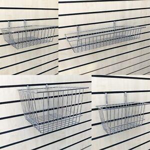 Slatwall Basket Retail Shop Heavy Duty Display Storage Shelving Basket/ Baskets